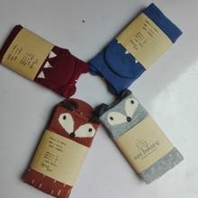 4PCS/Lot Baby Socks meias Mini Dressing Boys Girls Fox meia infantil Kids Floor calcetines enfants bebe chaussettes