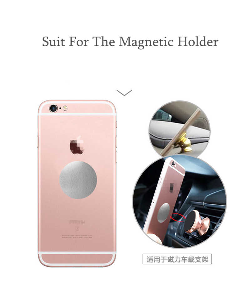 Metal Plate Disk iron Sheet Magnet Mobile Cell Phone Holder For iPhone X 6 Magnetic Car Air Vent Mount Phone Stand Mount Support