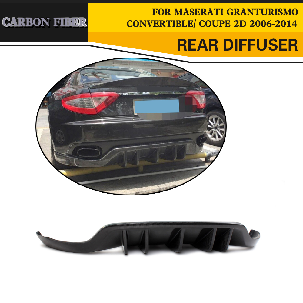 Stile auto Da Corsa In Fibra di Carbonio Diffusore Posteriore Labbro per Maserati GranTurismo Cabrio Coupé 2 Porte 2006-2014 FRP Nero
