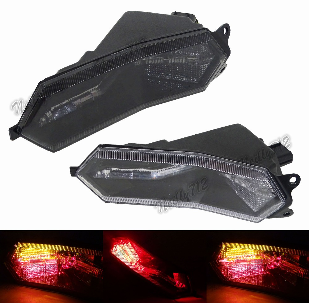 For Yamaha YZF R1 R1M R1S 2015 2016 2017 Rear Tail Light Brake Turn Signals Integrated LED Light aftermarket free shipping motorcycle parts led tail brake light turn signals for yamaha yzf r1 yzf r1 2004 2005 2006 smoke