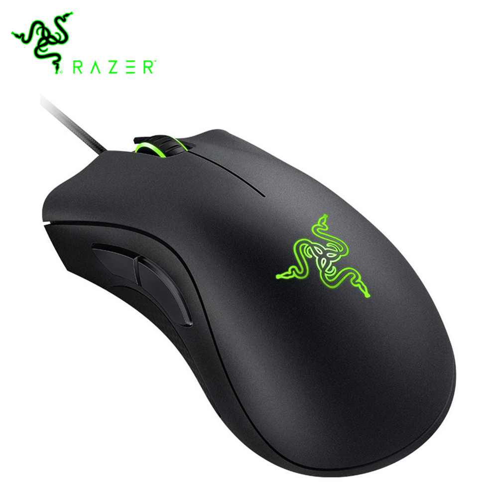 100% Original Razer DeathAdder Essential Wired Mouse Professional Grade Gaming Mouse 6400DPI Optical Sensor Mice for Computer PC