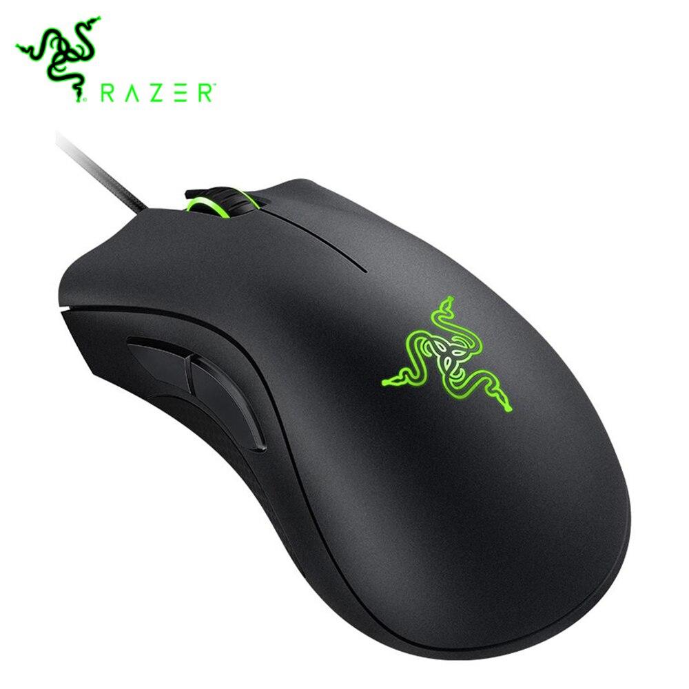 100% Original Razer DeathAdder essentiel souris filaire souris de jeu de qualité professionnelle 6400DPI souris de capteur optique pour ordinateur PC