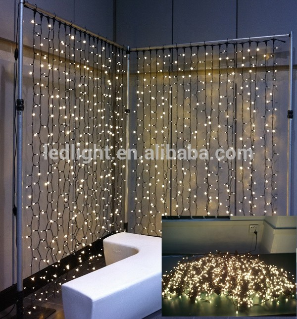 black pvc wire 2mx2m indoor christmas wedding warm white led fairy curtain light holiday lights in holiday lighting from lights lighting on aliexpresscom