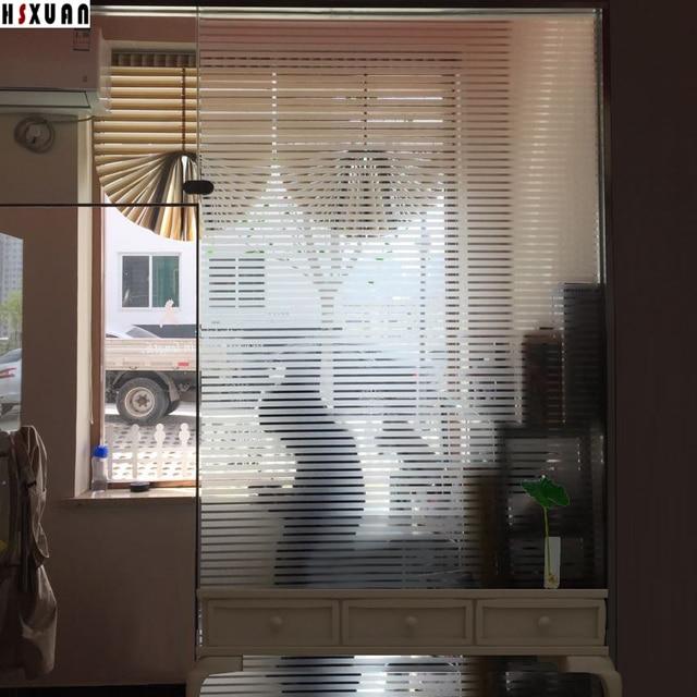 Stripe Decorative Glass Window Film 92x100cm Pvc Removable Sticker Office  Partitions Glass Door Stickers