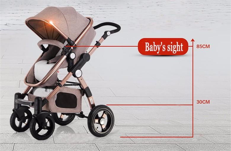 GoldenBaby wózka dziecięcego 2 w 1 3 w 1 szok składany składany newborn baby wózek Rosja darmowa wysyłka 13