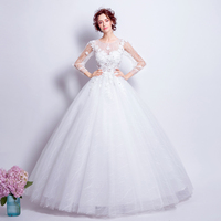 Angel Wedding Dress Marriage Bride Bridal Gown Vestido De Noiva Lace Boat Neck Flower Bud Silk