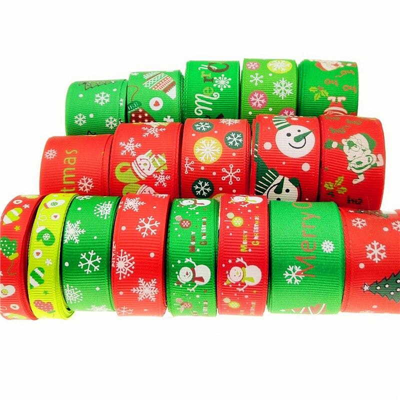 Мм 5 лет/партия 9-25 мм Рождественская тема корсажная лента домашний текстиль печатная лента свадебные украшения материалы подарки упаковка