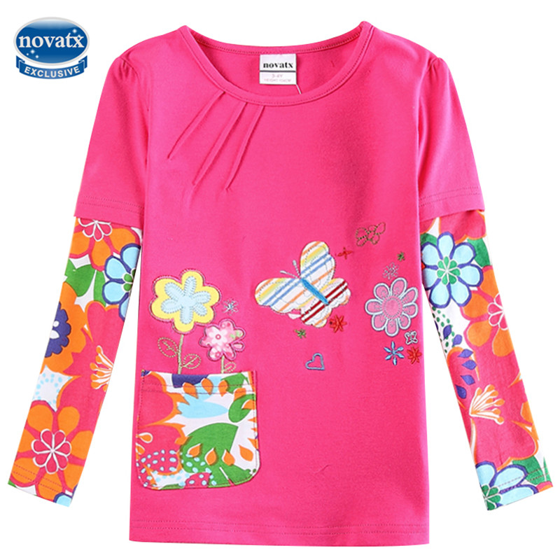 novatx F5921 baby girls clothes girl t shirts children clothing casual accessories kids clothes vestidos t shirt for girl novatx baby girl t shirt kids t shirts for girls clothes long sleeve dot cute little deer printed t shirt new children clothing
