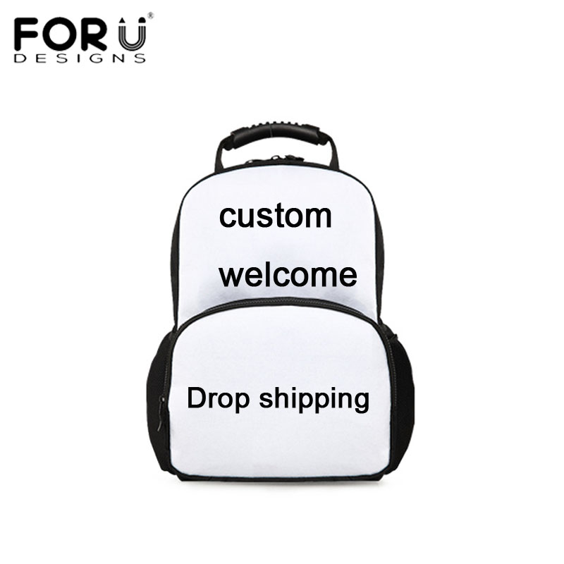 FORUDESIGNS Welcome Custom Unisex Backpack Men Women Travel Bagpack Cool 3D Print Children Boys Girly School Back Pack Rucksack