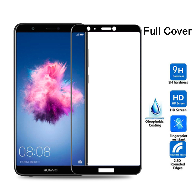Protective Glass On For Huawei P Smart 5.65 Inch Case Full Cover Screen Protector Tempered Glass For FIG-LX1 FIG-LA1 Psmart Film