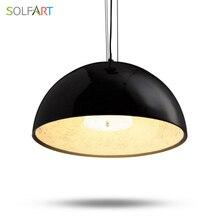 Oda Yemek Lamba Için Mutfak Loft kolye Işıklar Bar Lamphang Modern Cilalar Nordic Siyah Işık Fikstür