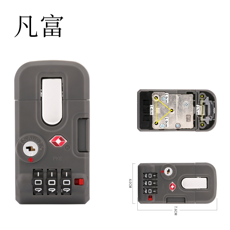 Zinc Alloy accessories Password  lock Combination padlock factory outlet  Luggage Metal Code LockKeyed Anti-Theft  code locks(China)