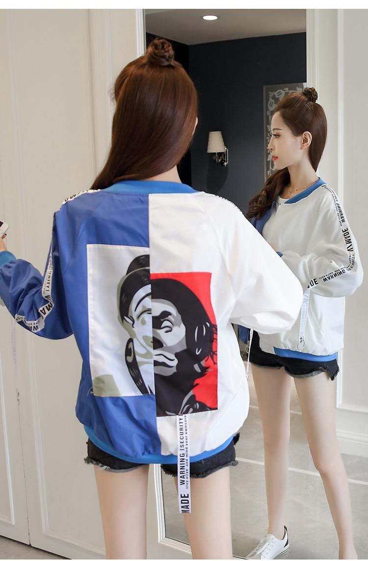 HTB1pajibUGF3KVjSZFoq6zmpFXau Jackets Women 2018 New Women's Basic Jacket Fashion Thin Girl Windbreaker Outwear Bomber Female Baseball Women Men Coat