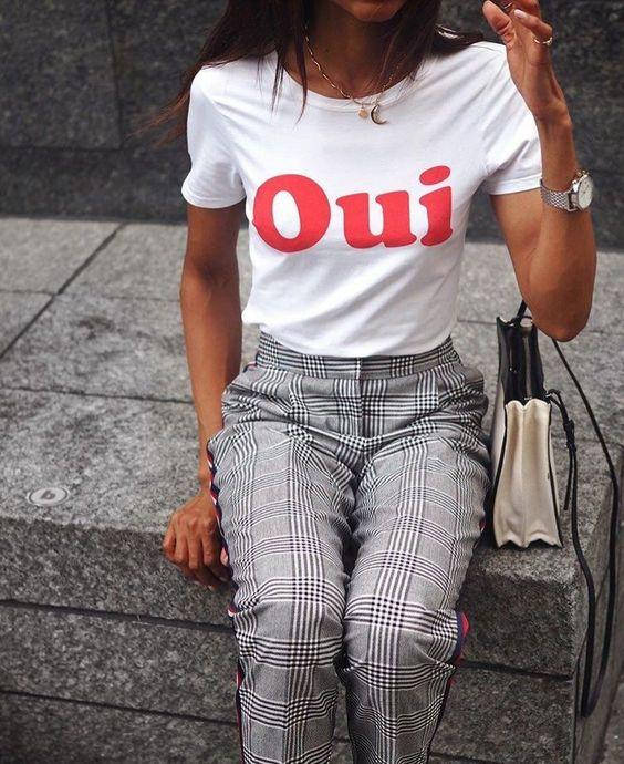 oui t shirt french writing ladies t shirt tumblr style. Black Bedroom Furniture Sets. Home Design Ideas