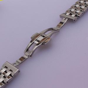 Image 3 - Yüksek Kaliteli Paslanmaz Çelik Kordonlu Saat Kavisli Son Gümüş Bilezik 16mm 18mm 20mm 22mm 24mm Katı bant marka Saatler erkekler yeni