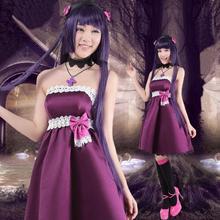 Anime Goku Ruri cosplay Gato Negro vestido de Adultos de Disfraces de Halloween para las mujeres vestidos de fiesta conjunto completo
