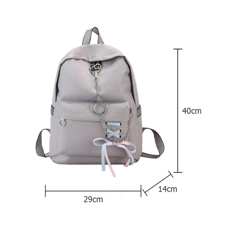 03936d4038b2 Casual Women Girls Canvas Backpacks Travel Rucksack Large Capacity Zipper  Chain School Shoulder Handbags Features  The fashion version of the  type concise ...