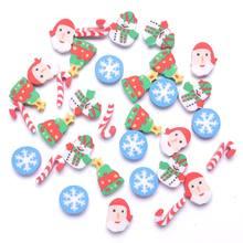 35 pcs Mini Kawaii gomma cartone animato babbo natale albero pupazzo di neve fiocco di neve scuola forniture per ufficio gomma gomma regalo di natale