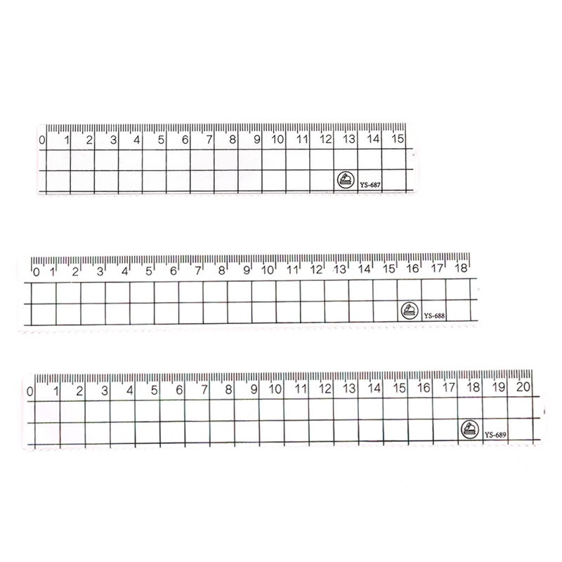 Simple Transparent stationery drawing Students Geometry Ruler School Supplies