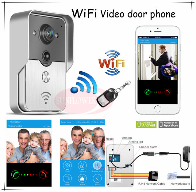 DHL&EMS free shipping New Wifi video intercom/ wifi wireless video door phones (App can be run in Android and IOS devices ) dhl ems 1pc new for si ck ime18 05bdszc0s