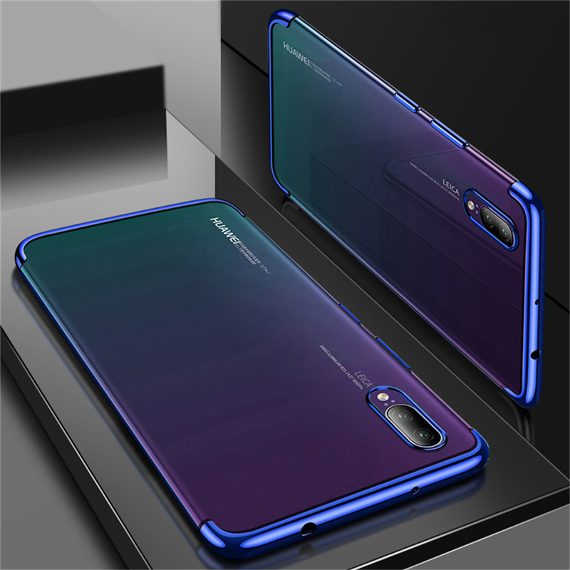 Eleteil Transparent Luxury Plating Case For Huawei P20 Lite P20 Pro Back Cover Soft Case For Huawei Mate 20 Mate20 Lite E40 Reliable Performance Fitted Cases