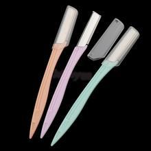 הרבה 3 נשים פנים & גבות גילוח הסרת שיער גבות גוזם מעצב מכונת גילוח יופי כלים סט ערכת נירוסטה להב