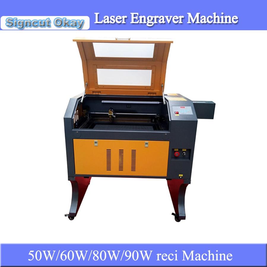 Good Quality 50W 60W 80W 90W Reci CNC CO2 Laser Engraver And Cutting Machine Acrylic Laser Engraving Machine 4060