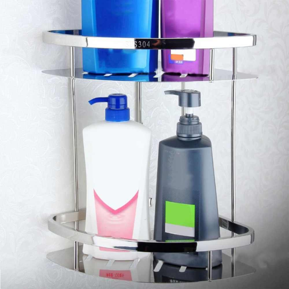 Ze stali nierdzewnej Anti-rust do przechowywania półki półka do montażu na ścianie wieszak ubikacja łazienka prysznic mydło gąbka uchwyt do użytku domowego uchwyt na