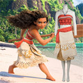 Gift Polynesia Princess Moana cosplay costume  Carnival Christmas  child's dress movie Moana dress custom made Free Delivery