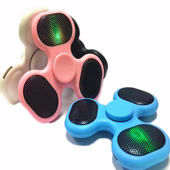 Fidget Spinner LED Bluetooth Speaker EDC Hand Spinner Anti-stress Spinner Bluetooth Connect play music For Kids ADHD and Autism