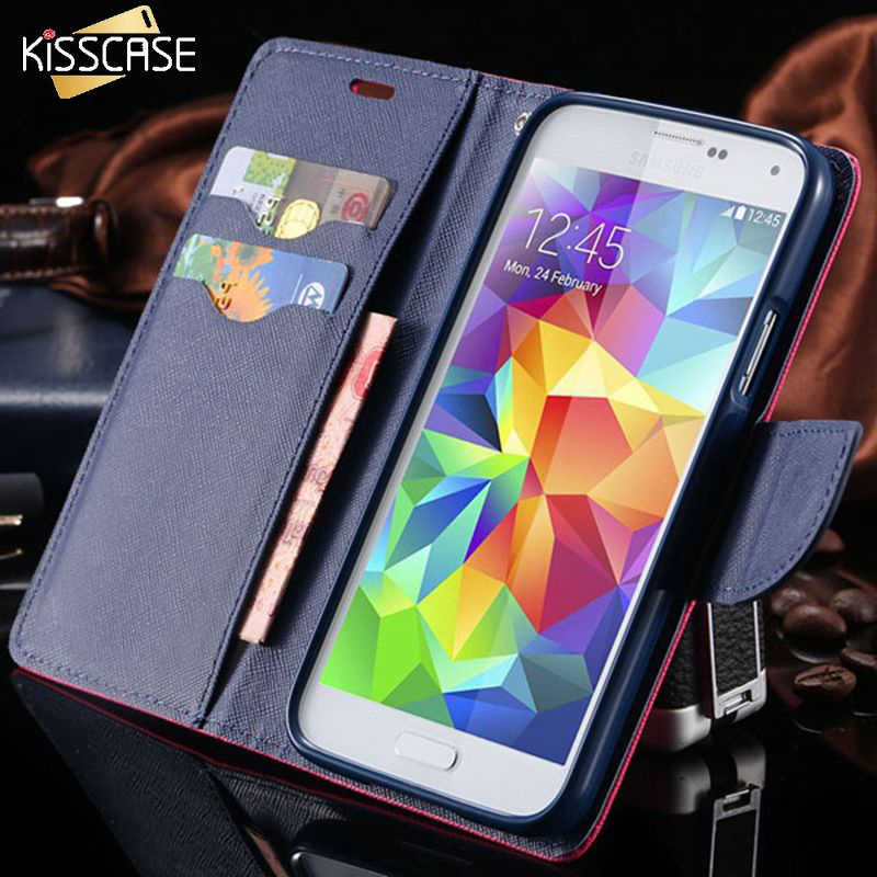 New Fashion Brilliant Wallet Case For Samsung Galaxy S V i Card