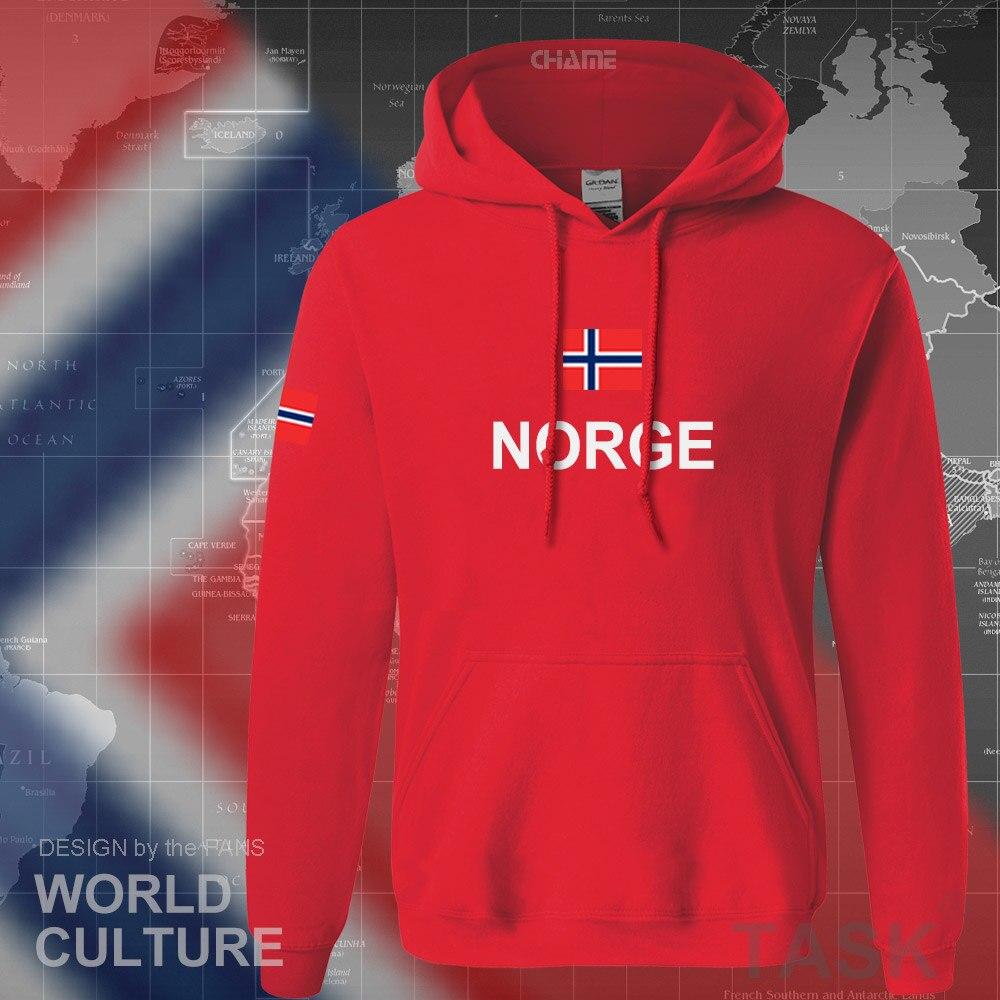 Norway hoodies men sweatshirt sweat new hip hop streetwear footballes jerseyes tracksuit nation Norwegian flag NO Norge Noreg