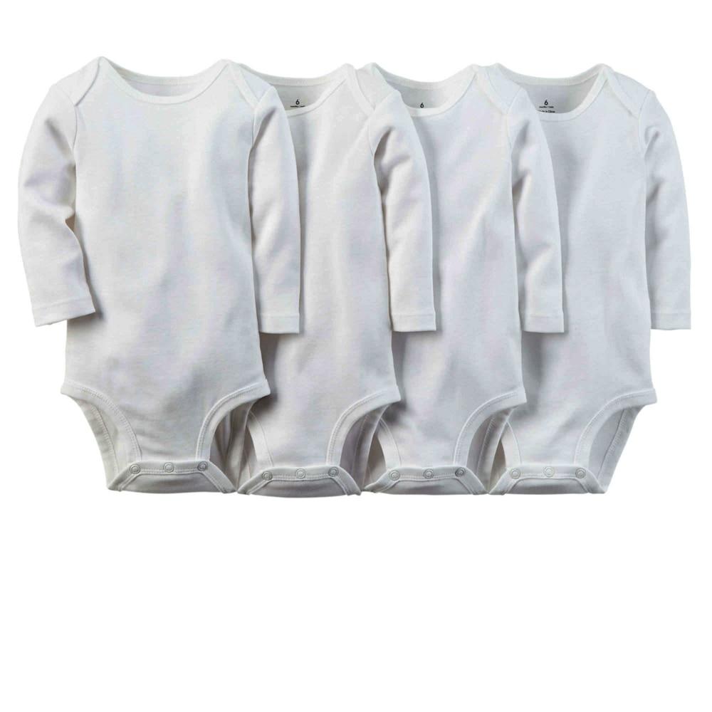 3pcs / partii vastsündinud beebi kehad 100% puuvillane valge - Beebiriided - Foto 3