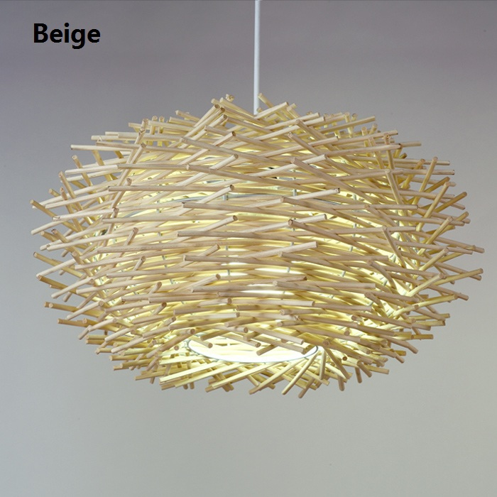 Modern Birds Nest Sala Pendant LIghts 30/50CM Kitchen Dinning Room Lamp Fixtures Vintage Lustres 110v 220v Luminaria E27 Retro