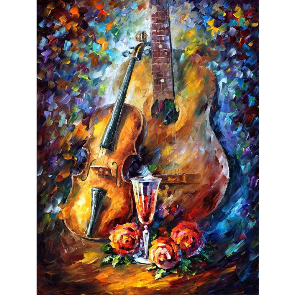 Buy canvas wall pictures pop art guitar for Modern art to buy