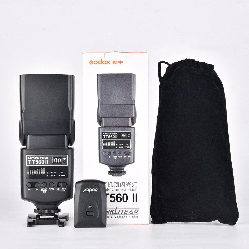 Godox Flash TT560II GN38 Build in 433MHz Wireless Transmission Channels Transmitter black flash bag For All
