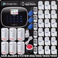 Wireless GSM Home Burglar Security Alarm Quard Band Smart House App Control SMS RFID Autodial TFT