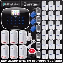 GSM ISO Android App Управления Беспроводной Домашней Охранной Сигнализации Quard Группа SMS RFID Автодозвон SMS Детектор Комплект с Motion датчик