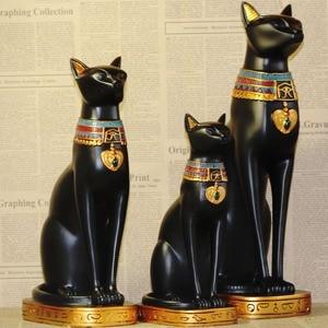 Image 2 - Sáng Tạo Chú Mèo Ai Cập Thần Đồ Trang Trí Nhựa Hàng Thủ Công Sách Tạm Gác Máy Tính Để Bàn Mèo Thu Nhỏ In Hình Hoa Lá Trang Trí Nhà Phụ Kiện Quà Tặng Sinh Nhật