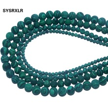 Wholesale Dull Polish Natural Stone Malachite Round Loose Beads For Jewelry Making DIY Bracelet Necklace Material 4 6 8 10 MM