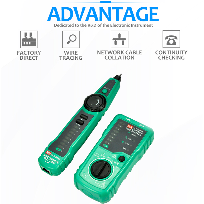 Image 4 - RJ45 Cable Tester Network Lan UTP Tracker Wire Scan Verify Test Telephone Line Finder RJ11 Cat5 Cat6 Wholesale Dropship-in Networking Tools from Computer & Office