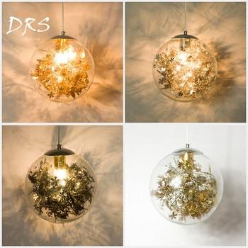 Modern Creative Glass Chandelier Lights Nordic Restaurant Study Bedroom Pendant Lamp Personality Art Ball Fish Tank Hanging Lamp