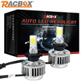 RACBOX 33W Cree Chips LED Car Headlight Auto H7 H8/H9/H11 9005 9006 HB3 HB4 H1 H3 H4-3 DRL Fog Light Bulb Automobiles Headlamp