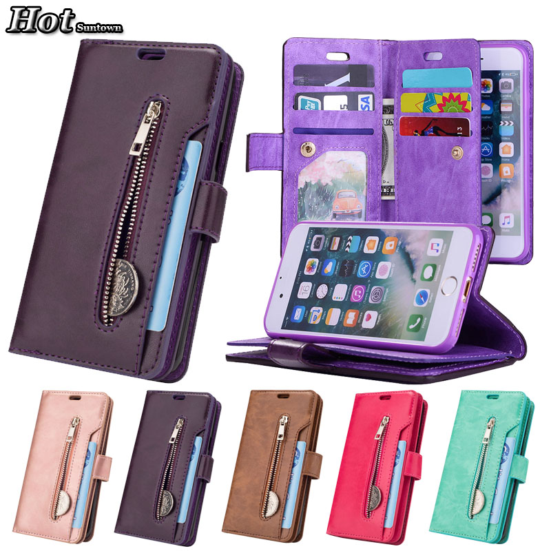 Luxury 9 Card Flip Case For Coque iphone 8 Case Wallet Cover Funda iphone 7 Case Leather Cover For iphone 7 8 Plus Phone Cases