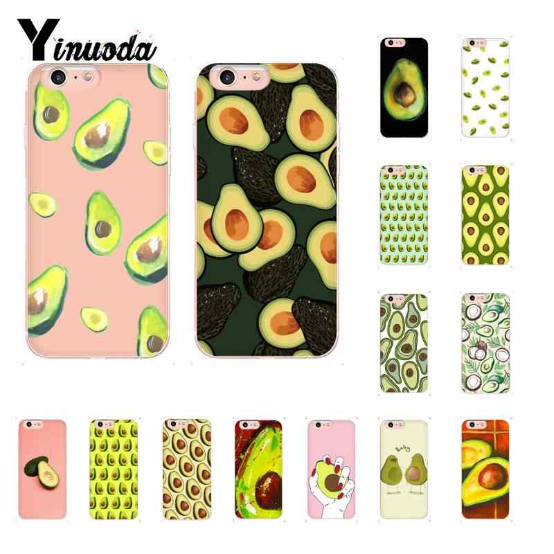 Yinuoda Avocado Food Pattern TPU Phone Case Cover Shell for iPhone 8 7 6 6S Plus X XS MAX 5 5S SE XR 10 Cover 11 11pro 11promax