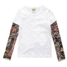Children Clothing Boys Long Sleeve T Shirt Cool Tattoo Shoes Printed T-shirts Big Girls Summer Kids Tops Baby Brand Vestidos