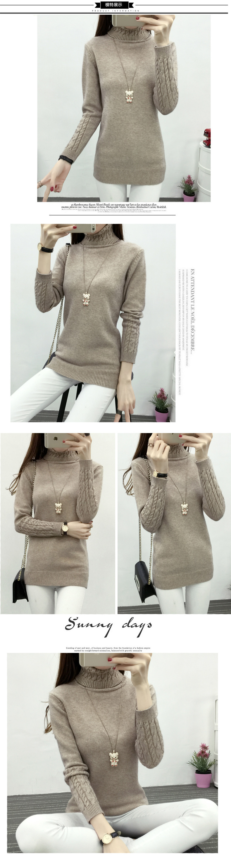 Thicken Warm Knitting Sweaters And Pullovers For Women 17 Winter Casual Elastic Turtleneck Knitwear Female Jumper Tricot Tops 6