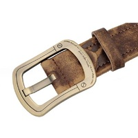 Men Western Leather Belt Pin Buckle Brown Genuine Steel Strong Defense Of The Man Designer Strap
