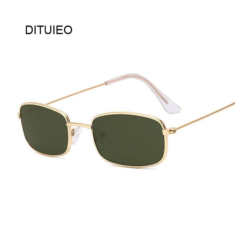 Retro Rectangle Sunglasses Men Women Luxury Brand Designer Metal Frame Circle Sun Glasses Male Female Fashion Shades Oculos