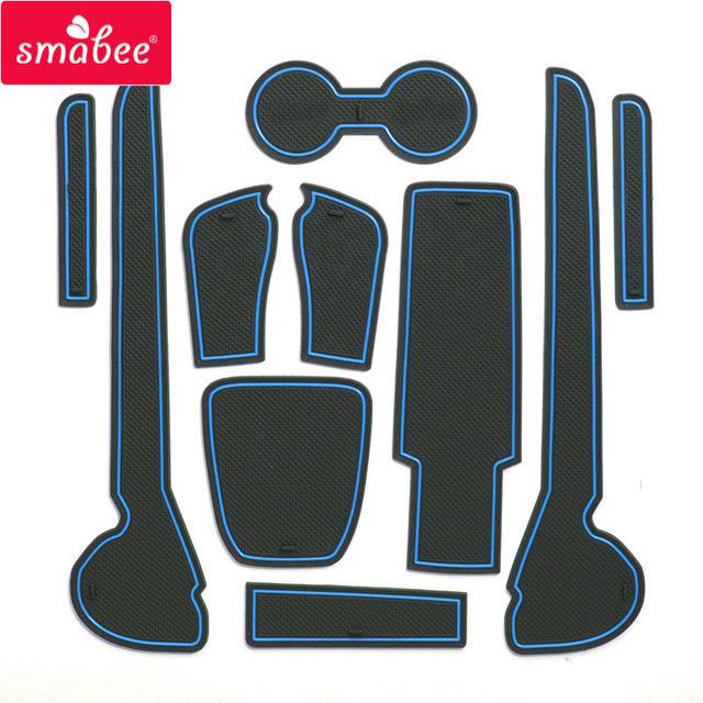 Smabee Non-Slip Gate Slot Cup Mat for VOLKSWAGON VENTO Interior Accessories Anti-Slip Pad Rubber Coaster Car Sticker Cup Holder